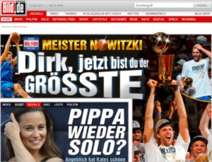 Germans celebrate Nowitzki's NBA title!