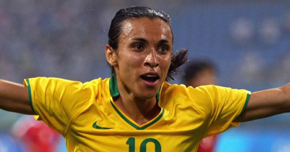 Brazil coach: Marta just cold-blooded player, stress doesn't bother her
