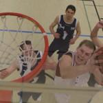 Regensburg Baskets center Johannes Wießnet goes up for a shot - Photo by Ed Cornejo