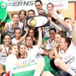 DJK Don Bosco Bamberg celebrate a second straight second division title - and will be going up to the top flight DBBL next season - Photo from DJK Don Bosco Bamberg website