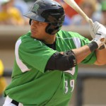 Donald Lutz is hammering his way through the Cincinnati Reds system - Photo by Dayton Dragons