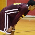 Kerem Kanter taking a break from action as a junior at MacDuffie high - Photo provided by K.Kanter