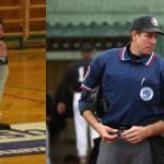Dana Beszczynski as basketball coach and baseball umpire