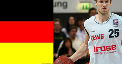 Anton Gavel now has a German passport - which will be a big help for Brose Baskets Bamberg in the German Beko BBL: photo by Imago