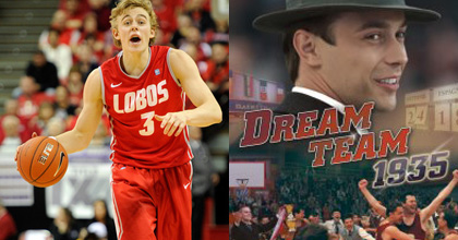 "Hugh Greenwood leads University of New Mexico into the NCAA Tournament and we talk about the film ""Dream Team 1935"" - Greenwood Photo Ethan Miller/Getty Images North America"