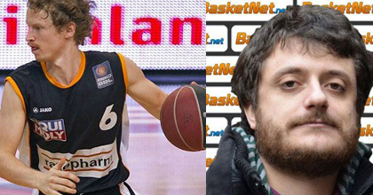Per Günther from ratiopharm ulm and Emiliano Carchia of Sportando.net - Günther pic by SID-IMAGES/Beko BBL/Ulf Duda