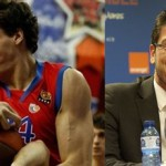 Sasha Kaun of CSKA Moscow (right) hints that he may play this summer at EuroBasket 2013 for new Russian national team coach Fotis Katsikaris.