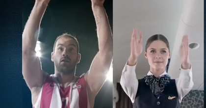 Vassilis Spanoulis lends a hand to Turkish Airlines' commercial for the Euroleague
