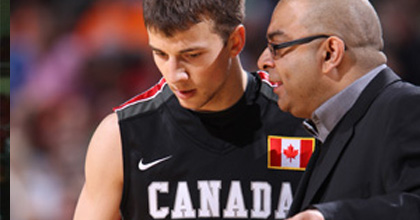 Canada U19 NT coach Roy Rana (right) hopes to win a gold medal at the 2013 FIBA U19 World Championship.