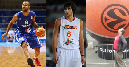 Tony Parker of France, Ricky Rubio of Spain and BallinEurope's Emmet Ryan talk about EuroBasket 2013