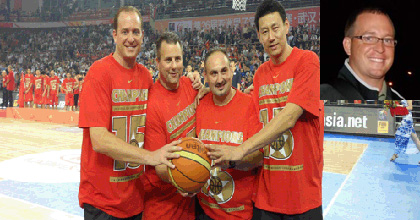 Pete Philo (left and inset) helped the Chinese national team to big success and is now Director of International Scouting for the Indiana Pacers.
