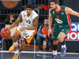 Edgar Sosa pushes the ball for ratiopharm ulm in Eurocup action - Photo by bildwerk 89