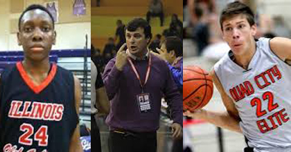 United States Albert Schweitzer Tournament teammates Scott Lindsey (left) and Ethan Happ (right) will be seen starting this fall at Northwestern and Wisconsin, respectively. Juan Manuel Cordoba (middle) is helping Chile establish respect at the 2014 AST.