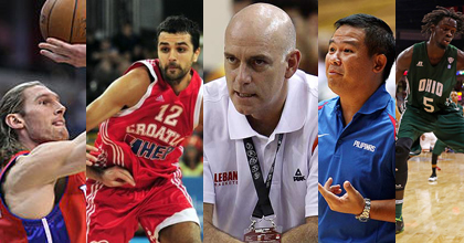 Some of the stories from Group B of the 2014 FIBA Basketball World Cup have been Walter Herrmann, Krunoslav Simon (AFP), Tab Baldwin (Reuters), Chot Reyes and Maurice Ndour (Kirk Irwin, Getty Images)