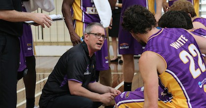 Damian Cotter has had his ups and downs thus far this season at the helm of the Sydney Kings. Luckily he had time enough to talk to Taking The Charge. Photo courtesy of club