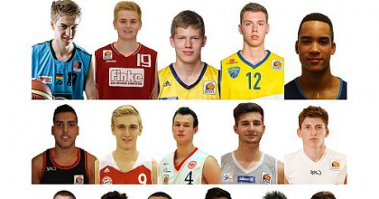 Here a look at the NBBL All Stars - the future of German basketball. The picture includes Mahir Agva (3rd row, 1st left), Isaiah Hartenstein (top row, middle), Niklas Kiel (third row, middle), Moritz Wagner (2nd row, middle)
