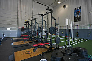 The weight room at Athlete Institute - photo by Athlete Institute