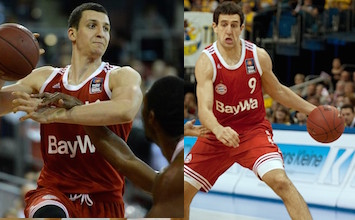 Paul Zipser (left) and Vasilije Micic (right) have both had strong moments this season for Bayern Munich. They also both talked to Taking The Charge this week.