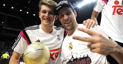 MVP and MVP - Luka Doncic and Andres Nocioni gave Real Madrid two titles this weekend at the Turkish Airlines Euroleague Final Four - Photo by Euroleague.