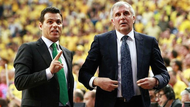 Dimitrios Itoudis (left with Zeljko Obradovic) knows a thing or two about winning.