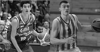 Federico Mussini of Italy (left) and Serbia's Stefan Lazarevic are both fighting serious injuries with hopes of being healthy in time for the 2015 FIBA U19 World Championship