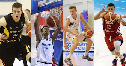 Isaiah Hartenstein, Jonathan Jeanne, Kristers Zorkis and Erten Gazi shined at the 2015 U18 European Championship - now they talk to Taking The Charge. Photos from FIBA Europe