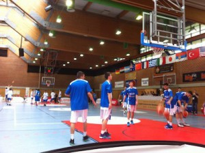 Italy vs Greece to start Day Two of the 2016 Albert Schweitzer Tournament in Viernheim.