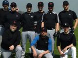 The Laub Raiders before their historic first game in German baseball.