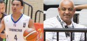 Justin Minaya (left) and Omar Minaya (right) talk to Taking The Charge about hoops and baseball. Photos by FIBA