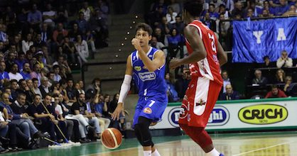 David Moretti in action for Treviso Basket - Photo from club's website gallery