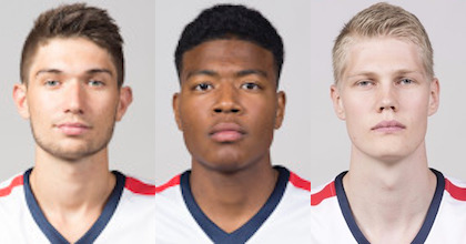 Killian Tillie, Rui Hachimura and Jacob Larsen will make up an important part of Gonzaga's future