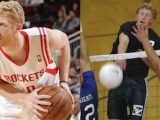 Chase Budinger is not only a star on the basketball court but is also a pretty solid volleyball player