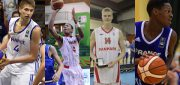 Gonzaga will have a very international look next season with Killian Tillie, Rui Hachimura, Jacob Larsen and Joel Ayayi - Photos from FIBA/FIBA Europe