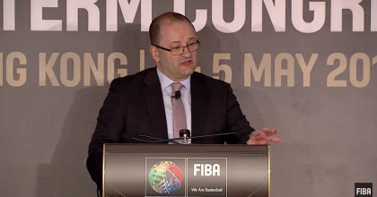 FIBA Secretary General Patrick Baumann at the FIBA Mid-Term Congress