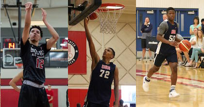 Addison Patterson, Jalen Sluggs and Zion Harmon join Taking The Charge - photos BioSteel, USA Basketball