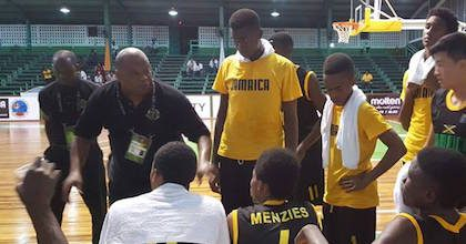 Tarry Upshaw coaches Jamaica at the Caribbean U16 Championship 2016. This summer he will coach the country at Centrobasket U17 Championship 2017.