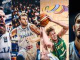 Luigi Datome, Nicolo Melli, Mindaugas Kuzminskas and Omri Casspi talk about the FIBA EuroBasket 2017
