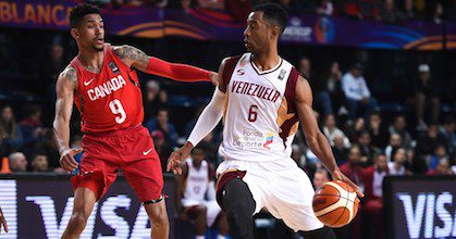 John Cox - here shown playing Canada at the FIBA AmeriCup 2017 - talks to Taking The Charge about the rise in Venezuelan hoops, his relationship with Kobe Bryant and medi Bayreuth's hopes for this season. Photo from FIBA