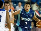 Michael Moncayo of Ecuador playing at the FIBA U18 Americas Championship. Photo by Paul S. Hendren