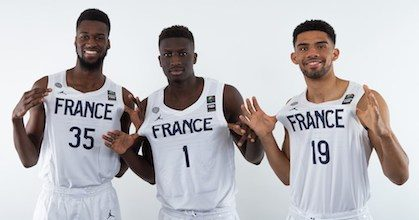 Digue Diawarra, Abdoulaye N'Doye and Bathiste Tchouaffe join Jules Rambaut as the French quartet can achieve the U16-U18-U20 European Championship generational three-peat if they win in Chemnitz - Photo FIBA