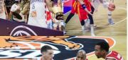 Top Left: Brandon Robinson, Top Right: Eric Kibi, Bottom: Scott Bamforth vs DeAndre Lansdowne
